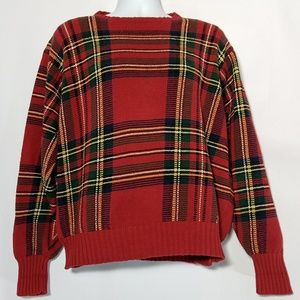 Polo Ralph Lauren XL Plaid Christmas HOL Sweater